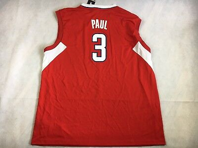 469ef1809f4 NWT ADIDAS LA Clippers Chris Paul 3 Swingman Jersey Red CP3 size 2XL ...