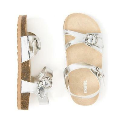 NWT Gymboree Jump Into Summers Girls Sandals Metallic Silver Baby and Kids sizes