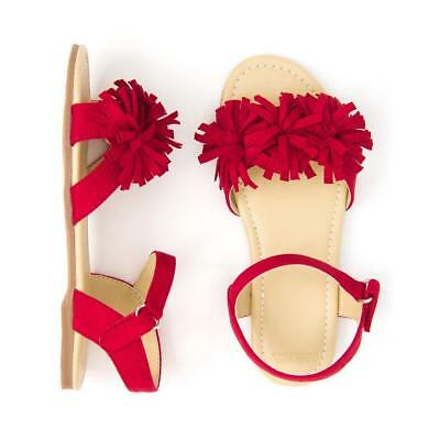NWT Gymboree Americana Girls Sandals Pom Pom Red Kid and Toddler Sizes