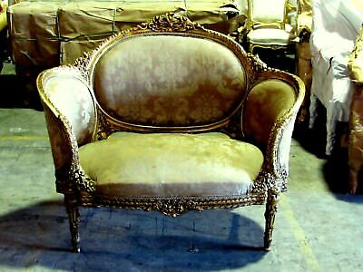 19th C. Ornate French Louis XVI Corbeille Settee