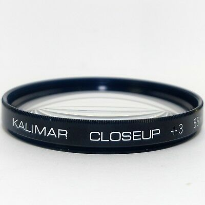 55mm Close-Up Lens +3 Screw-On Genuine Kalimar Closeup Filter Diopter
