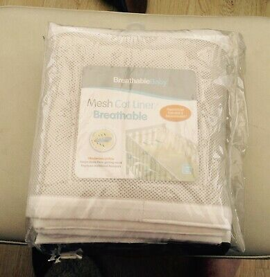 Breathable Baby Mesh Liner Cot Cot Bed Bumper 4 Sided