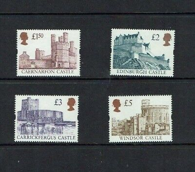 Great Britain: 1997 Castle High Values, Enschede Plate,   MNH