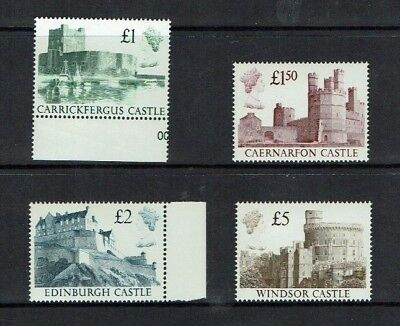 Great Britain: 1988 Castle High Values, Queen's head in profile,  MNH