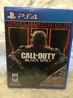 Call of Duty: Black Ops 3 III Zombies Chronicles Edition PS4 NEW Factory Sealed