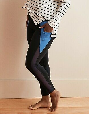 55465eba295b4c American Eagle Aerie Move High Waisted Pocket 7/8 Legging Black/Blue XS NWT