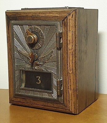 Antique Soaring Eagle Lock Post Office Mail Box United States Postal Service