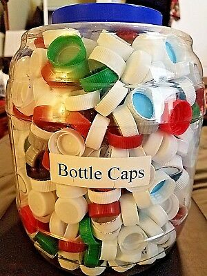 1,000+ Plastic Bottle Caps for Arts & Crafts