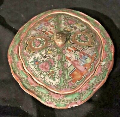 19 C. Antique Chinese Rose Medallion Covered Vegetable Dish