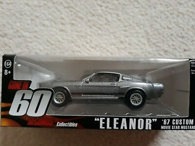 """Gone in 60 Seconds """"Eleanor"""" Die Cast Car Mustang Collectable lootcrate rare"""