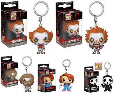IT/Scream Keyring Pennywise/Ghost Face/Chucky Figure POP Pocket Keychain Gift