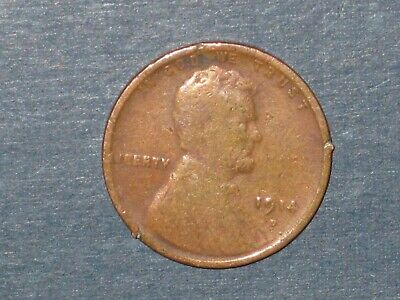 1914-d Lincoln Cent  KEY DATE Wheat Penny  Free Combined Shipping