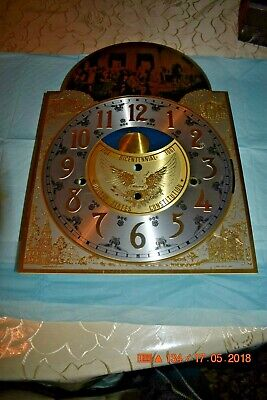 Ridgeway Grandfather clock DIAL for Hermle 1161-853 movement Rare and Fancy