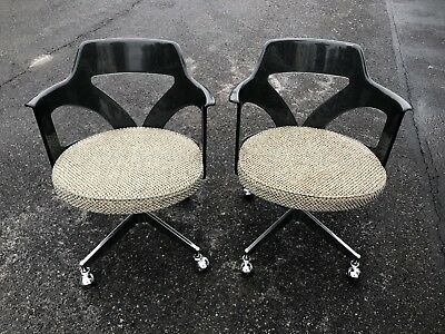 Vintage Pair of Mid Century Modern Lucite Clear Chairs Chrome RETRO ESTATE FRESH