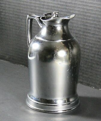 Vintage Wear Brite Insulated Pticher Nickel Silver Grand Silver Co Hotel Ware 8""