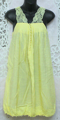 Ya Los Angeles Nwt Women's/Juniors L Yellow Lace Sundress Or Swimsuit Coverup