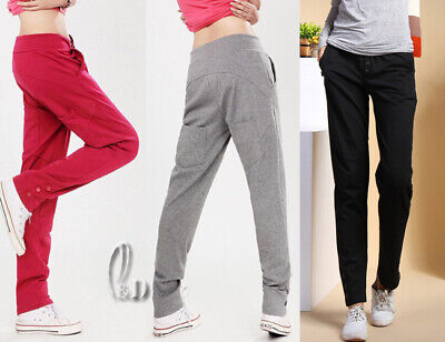Au Stock 100% Cotton Casual Sports Trousers Yoga Gym Running Basic Pants P007