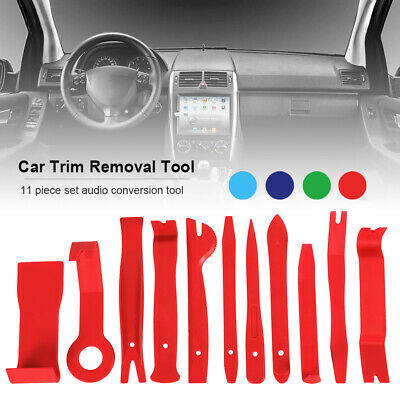 11 x Car Trim Removal Tool Pry Panel Dash Clips Removal Pry Kit Radio Audio Door