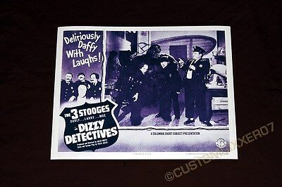 The Three 3 Stooges Dizzy Detectives movie Theater poster Lobby card art print