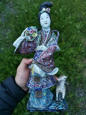 Estate Old Chinese Fujian Province Famous Porcelain Guanyin Marked Asian China
