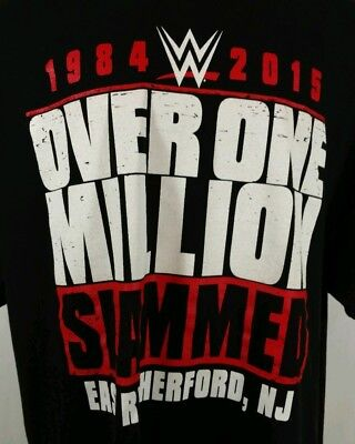 WWF/WWE Over One Million Slammed East Rutherford NJ Shirt 2XL Meadowlands Arena