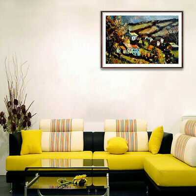 Village Scenery Picture Canvas Painting Poster Living Room Wall Home Decor Gifts