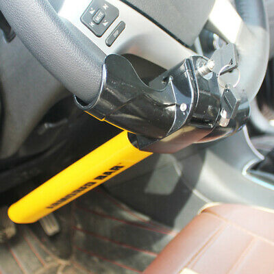 Car  T-shape Heavy Duty Anti-theft Securitr Chn Universal Steering Wheel Lock US
