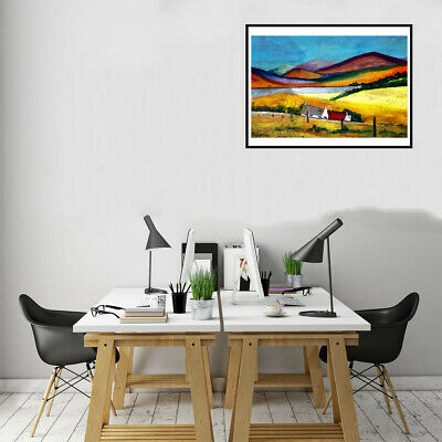 Mountain Picture Canvas Oil Painting Poster Living Room Wall Home Decor Gifts