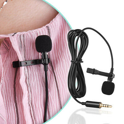 Clip on Mini Lavalier Lapel Condenser Microphone Mic 3.5mm for Phone Laptop K5T5