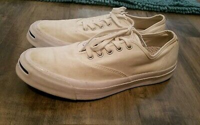 408c48eb81db Men s 9.5 Women s 11 Converse JACK PURCELL White Canvas Low Top Sneaker