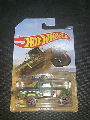 2019 Hot Wheels WALMART Off Road Series Matte Green JEEP SCRAMBLER #3/6 *NEW*