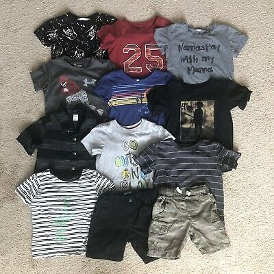 Lot of 13 Used Boys Kids Clothing Mixed Items Size 3T Tea Collection Cure H&M