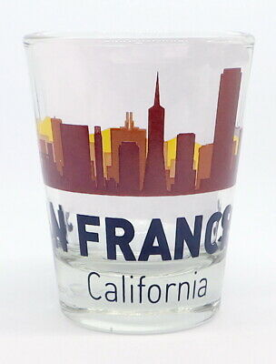 San Francisco California Sunset Skyline Shot Glass Shotglass