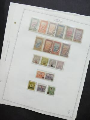 EDW1949SELL : TUNISIA Nice Mint collection on album pages mostly NH. Sc Cat $225