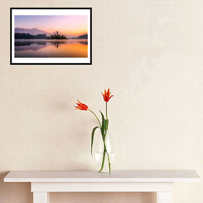 Bled Island Picture Canvas Oil Painting Art Poster Living Room Wall Home Decor