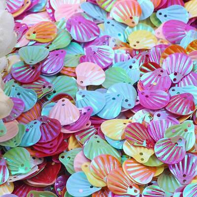 20mm  Sea Shell Shape Pvc Loose Sequins Paillettes Sewing Embellishment Findings