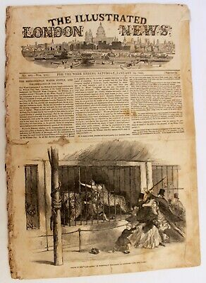 1850 The Illustrated London News January 19th