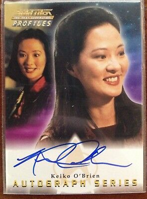 "Rosalind Chao ""Keiko O'Brien"" Star Trek  Profiles DS9 Auto Autograph Card"
