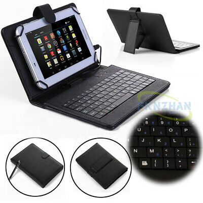 For HUAWEI MediaPad T3 M3 7.0/8.0/10 inch Tablet Leather USB Keyboard Case Cover