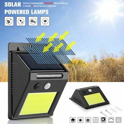 48 LED Solar Powered PIR Motion Sensor Light Outdoor Garden Security Wall Lights