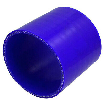 76mm 3 inch 3 Ply Straight Silicone Hose Tube Joiner Coupling Blue T5Q3