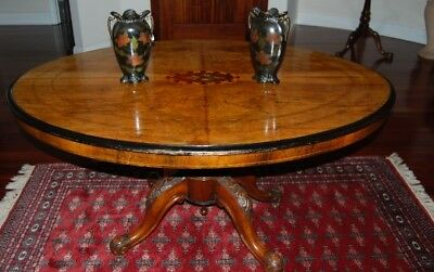 Antique Victorian Marquetry Loo Table