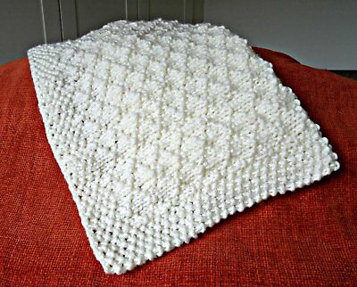 baby blanket easy knitting pattern super chunky criss-cross