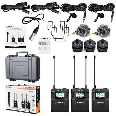 Comica CVM-WM300(A) Wireless 96-Channel UHF Dual Lavalier Microphone for Canon