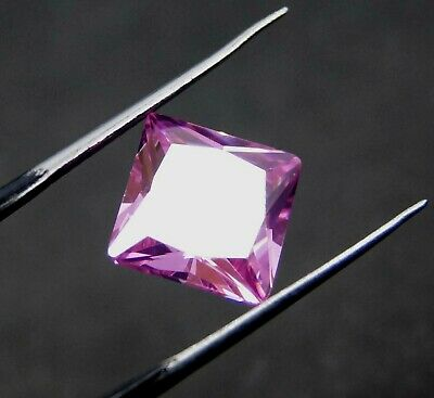 GGL Certified 8.20 Ct Radiant Cut Transparent Natural Pink Sapphire Gemstone