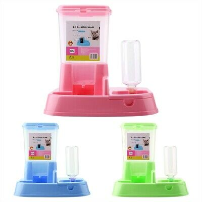 Friendly Automatic Pet Feeder Detachable Food Dispenser Water Bottle Feeding