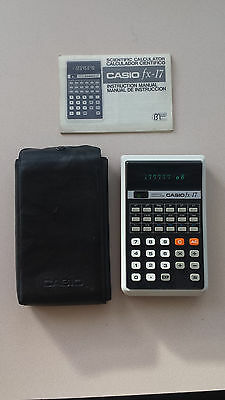Calculadora Casio fx-17 Scientific Calculator / vintage / colección