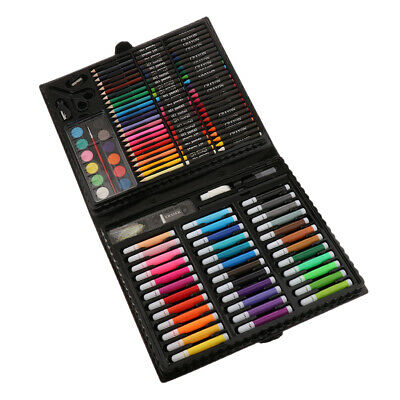 Prettyia 150PCS Kid's Painting and Drawing Set Crayons Oil Pastels Pencils