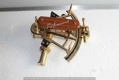 Solid Shiny Brass Sextant -Replica Marine Astrolabe~Vintage Working Item.