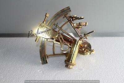 Solid Shiny Brass Sextant -Replica Marine ~Vintage Collectible Working Gift